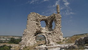 Ruins of an ancient castle stock footage