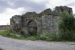Ruins of an ancient castle Royalty Free Stock Photography