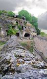 Ruins of the ancient cave city Stock Photography