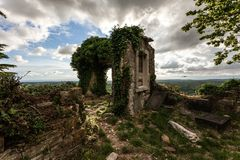 Ruins of an ancient chapel Stock Images