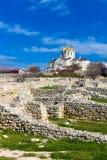 Ruins of ancient Chersonese Crimea Stock Photo