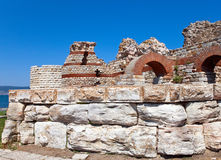 Ruins of ancient church.Bulgaria. Nesebr Stock Photo