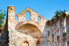 Ruins of the ancient church, Nesebar, Bulgaria Royalty Free Stock Photo