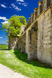 Ruins of the ancient Church in Tuscany stock photography