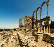 Ruins of ancient city Anjar, Bekaa valley, Lebanon Royalty Free Stock Photos