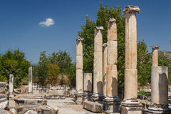Ruins of the ancient city of Aphrodisias Stock Photo