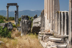 Ruins of the ancient city of Aphrodisias Stock Images