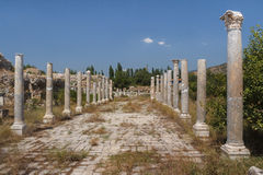 Ruins of the ancient city of Aphrodisias Stock Photos