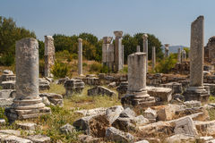 Ruins of the ancient city of Aphrodisias Royalty Free Stock Photo