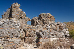 Ruins of the ancient city of Aspendos Royalty Free Stock Photo