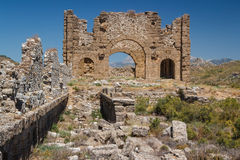 Ruins of the ancient city of Aspendos Royalty Free Stock Images