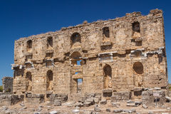 Ruins of the ancient city of Aspendos Royalty Free Stock Image