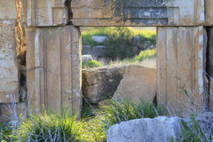 Ruins of Ancient City of Biblical Kedesh in Israel royalty free stock photography