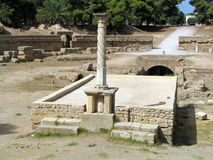 Ruins of ancient city of Carthage (Tunisia) Royalty Free Stock Photo