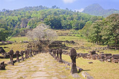 The ruins of the ancient city in Champasak Royalty Free Stock Image