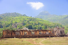 The ruins of the ancient city in Champasak Stock Photos