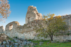 The ruins of the ancient city of in Chersonese Royalty Free Stock Photos