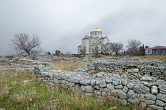 Ruins of an ancient city of Chersonese  & x28;Crimea& x29; Stock Photos