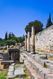 Ruins of the ancient city Delphi, Greece Royalty Free Stock Image