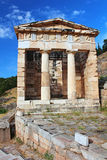 Ruins of the ancient city Delphi Stock Photo