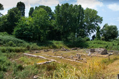 The ruins of the ancient city of Dion. Stock Photo