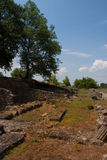 The ruins of the ancient city of Dion. Greece. The ruins of the ancient city of Dion Royalty Free Stock Photos