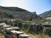 Ruins of the ancient city Ephes Stock Images