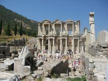 Ruins of the ancient city Ephes Stock Photo