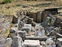 Ruins of the ancient city Ephes Royalty Free Stock Photos