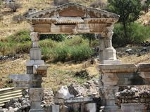 Ruins of the ancient city Ephes Stock Photos
