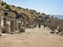Ruins of the ancient city Ephes Royalty Free Stock Photography