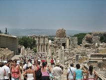 Ruins of the ancient city Ephes Royalty Free Stock Image