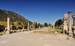 Ruins of ancient City - Ephesus in Turkey Stock Photography