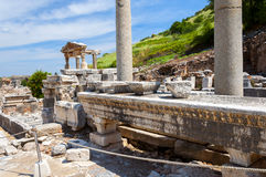 The ruins of the ancient city of Ephesus, Turkey Royalty Free Stock Photos