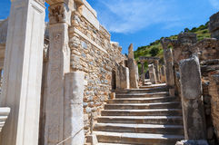 The ruins of the ancient city of Ephesus, Turkey Royalty Free Stock Photo
