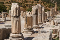Ruins of the ancient city of Ephesus Royalty Free Stock Photo