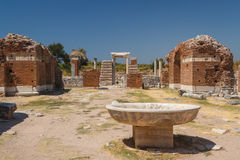 Ruins of the ancient city of Ephesus Royalty Free Stock Photos