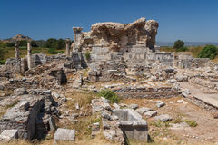 Ruins of the ancient city of Ephesus Stock Photography