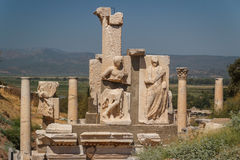 Ruins of the ancient city of Ephesus Stock Photos