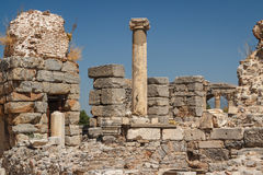 Ruins of the ancient city of Ephesus Royalty Free Stock Images