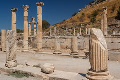 Ruins of the ancient city of Ephesus Royalty Free Stock Photography