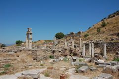 Ruins of ancient city of Ephesus, Turkey Stock Photos