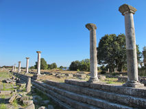 Ruins of the ancient city of Filippi in Greece Stock Photo