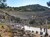 Ruins of the ancient city, Greek theatre Stock Photo