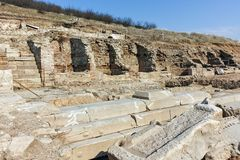 Ruins of ancient city Heraclea Sintica - built by Philip II of Macedon, Bulgaria Royalty Free Stock Image