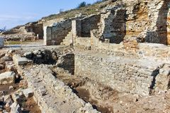 Ruins of ancient city Heraclea Sintica - built by Philip II of Macedon, Bulgaria Stock Image