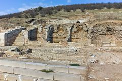 Ruins of ancient city Heraclea Sintica - built by Philip II of Macedon, Bulgaria Royalty Free Stock Photography