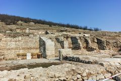 Ruins of ancient city Heraclea Sintica - built by Philip II of Macedon Stock Image