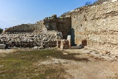 Ruins of ancient city Heraclea Sintica - built by Philip II of Macedon Royalty Free Stock Image