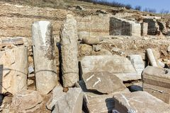 Ruins of ancient city Heraclea Sintica - built by Philip II of Macedon Stock Photography